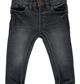 Me + Henry Charcoal Slim Fit Denim Jeans, Baby