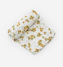 Little Unicorn Deluxe Cotton Swaddle - Ditsy Sunflower