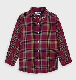 Mayoral Long Sleeved Boys Checked Shirt