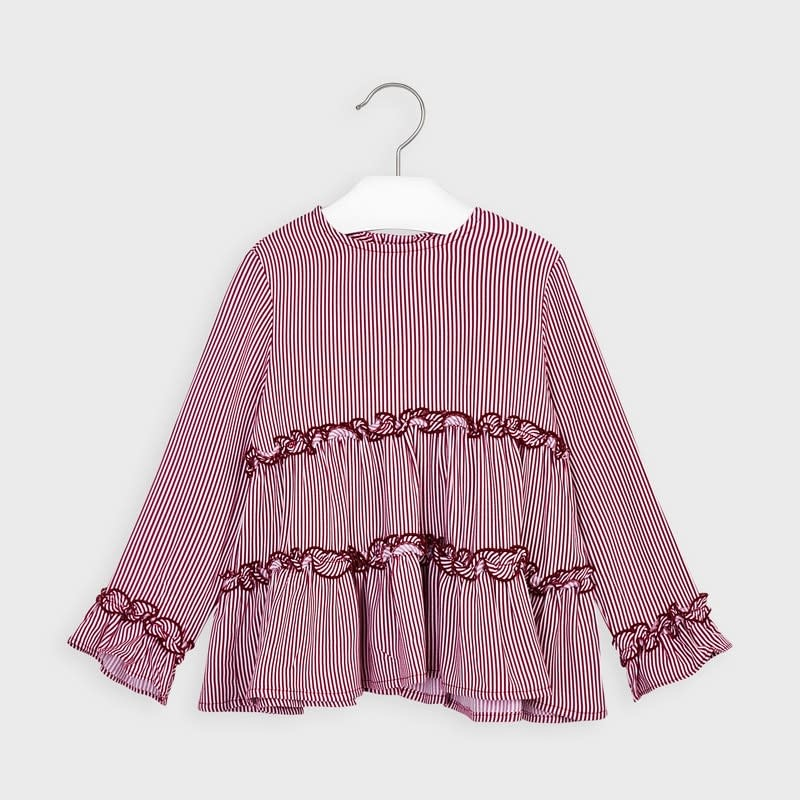Mayoral Blouse for Girl - Cherry