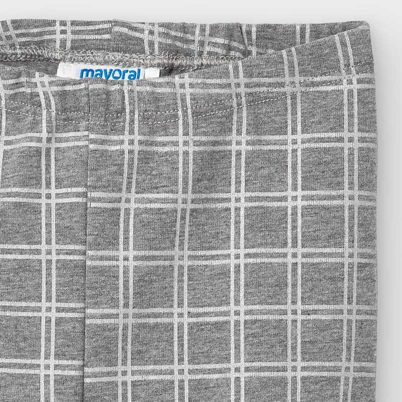 Mayoral Baby Girl Leggings Silver Windowpane