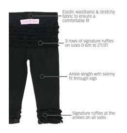 RuffleButts Ruffle Leggings Black