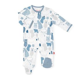 Magnetic Me Unbearably Cute Organic Cotton Magnetic Footie