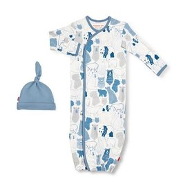 Magnetic Me Unbearably Cute Organic Magnetic Sack Gown Set NB-3M