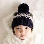 Huggalugs Rebel Indigo Knit Beanie Hat