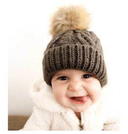 Huggalugs Loden Pop Pom Beanie Hat