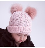 Huggalugs Blush Pink Fluffer Beanie Hat