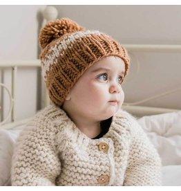 Huggalugs Rebel Pecan Knit Beanie Hat