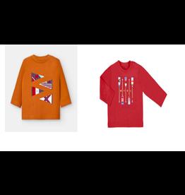 Mayoral Rust Flag & Red Oars Long Sleeve 18M Shirt Set