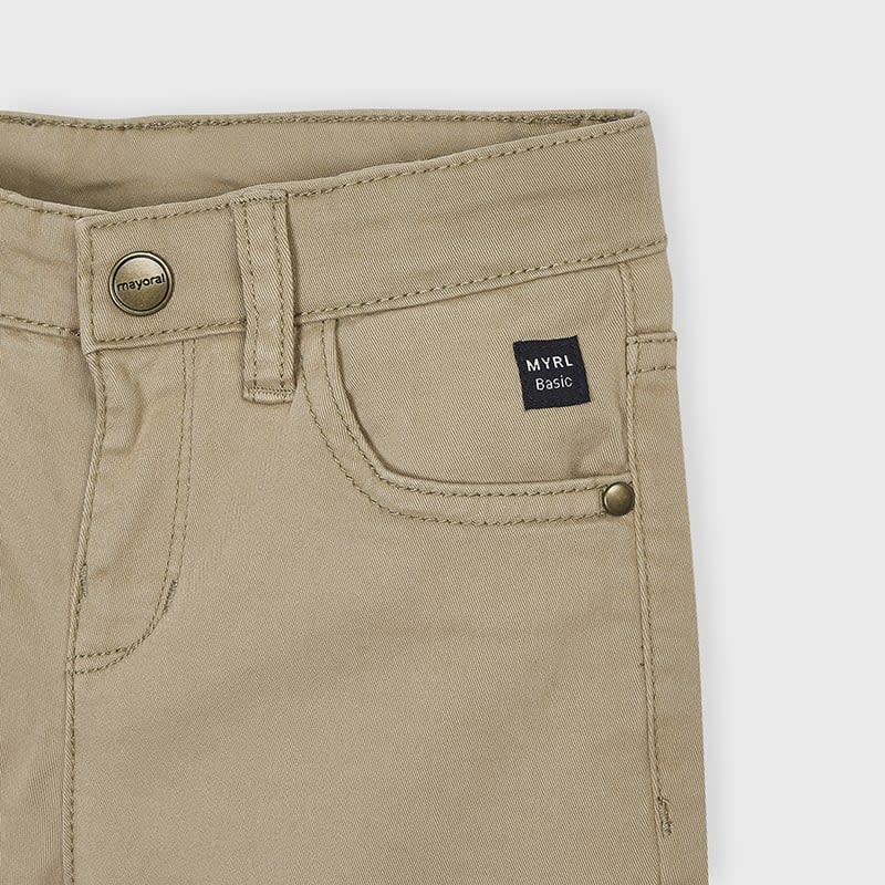 Mayoral 5 Pocket Boys Regular Fit Pant Walnut