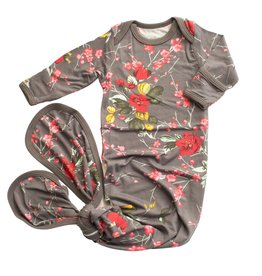 Bestaroo Cherry Blossom Gown - Charcoal 0-3M