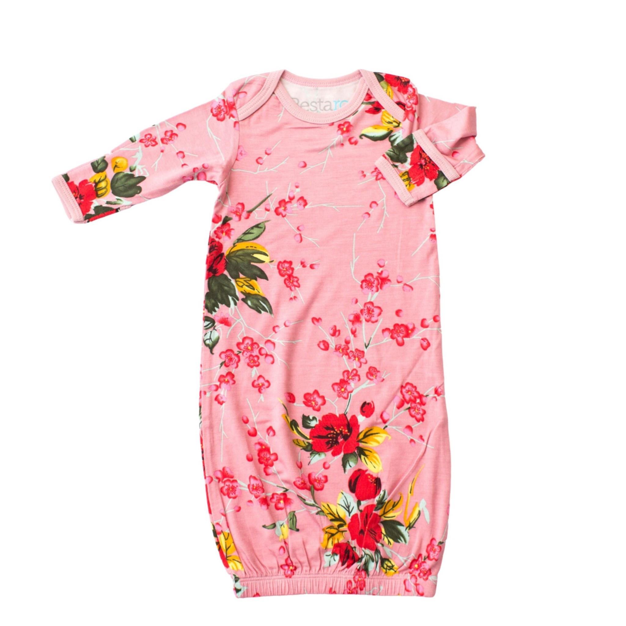 Bestaroo Cherry Blossom Gown - Rose 0-3M
