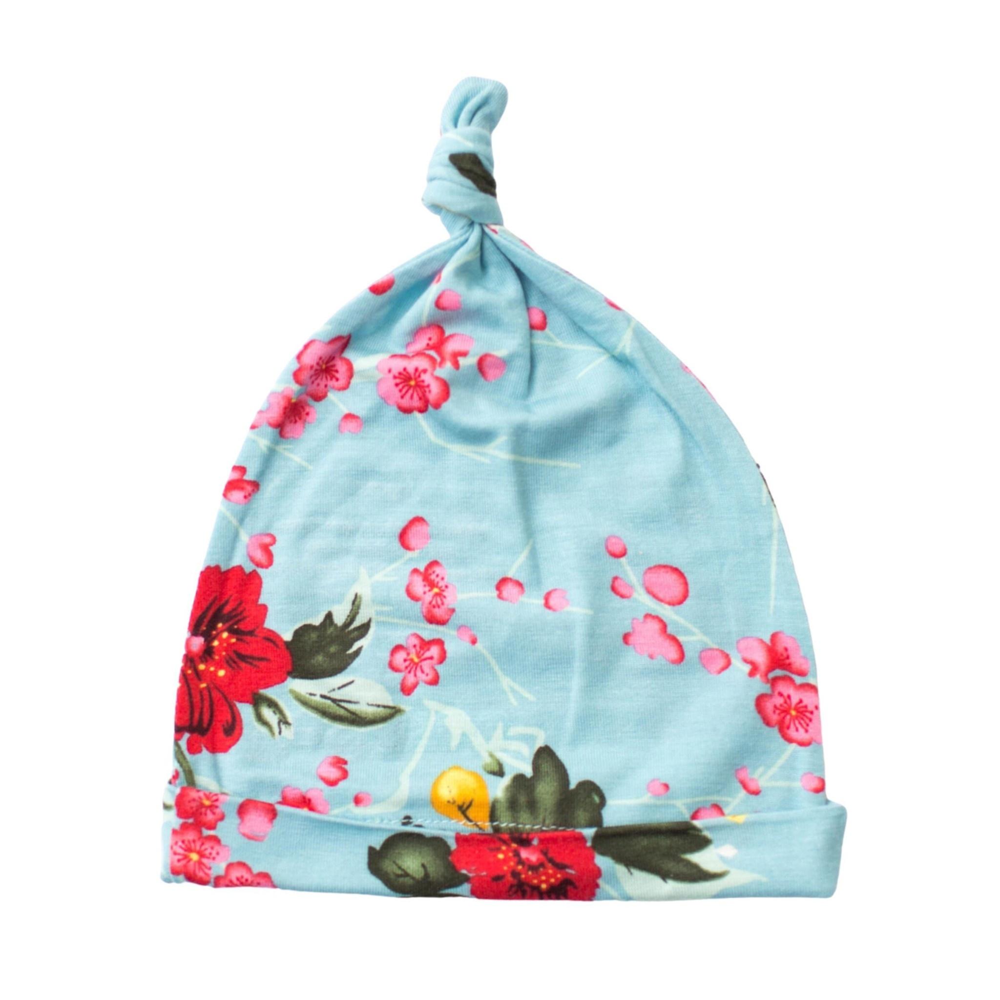 Bestaroo Cherry Blossom Hat - Teal 0-3m
