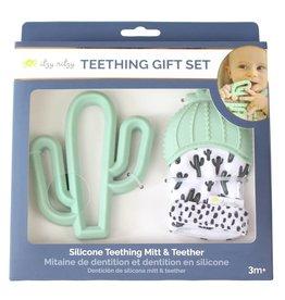 Itzy Ritzy Teething Mitt & Teether Gift Set - Cactus