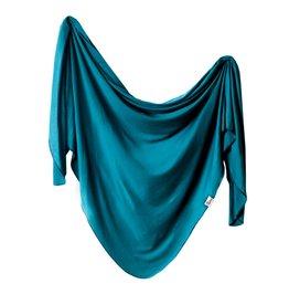 Copper Pearl Knit Blanket - Steel