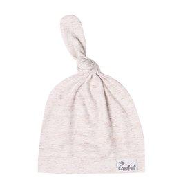 Copper Pearl Newborn Top Knot Hat, Oat