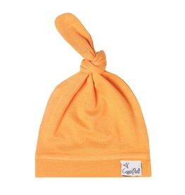 Copper Pearl Newborn Top Knot Hat, Solar