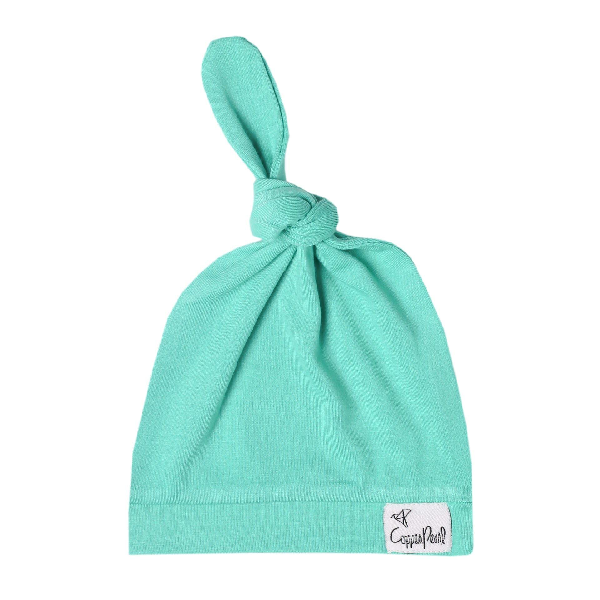 Copper Pearl Newborn Top Knot Hat, Spout