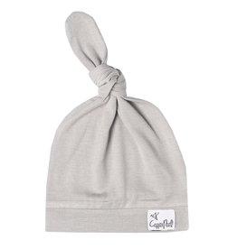 Copper Pearl Newborn Top Knot Hat, Stone