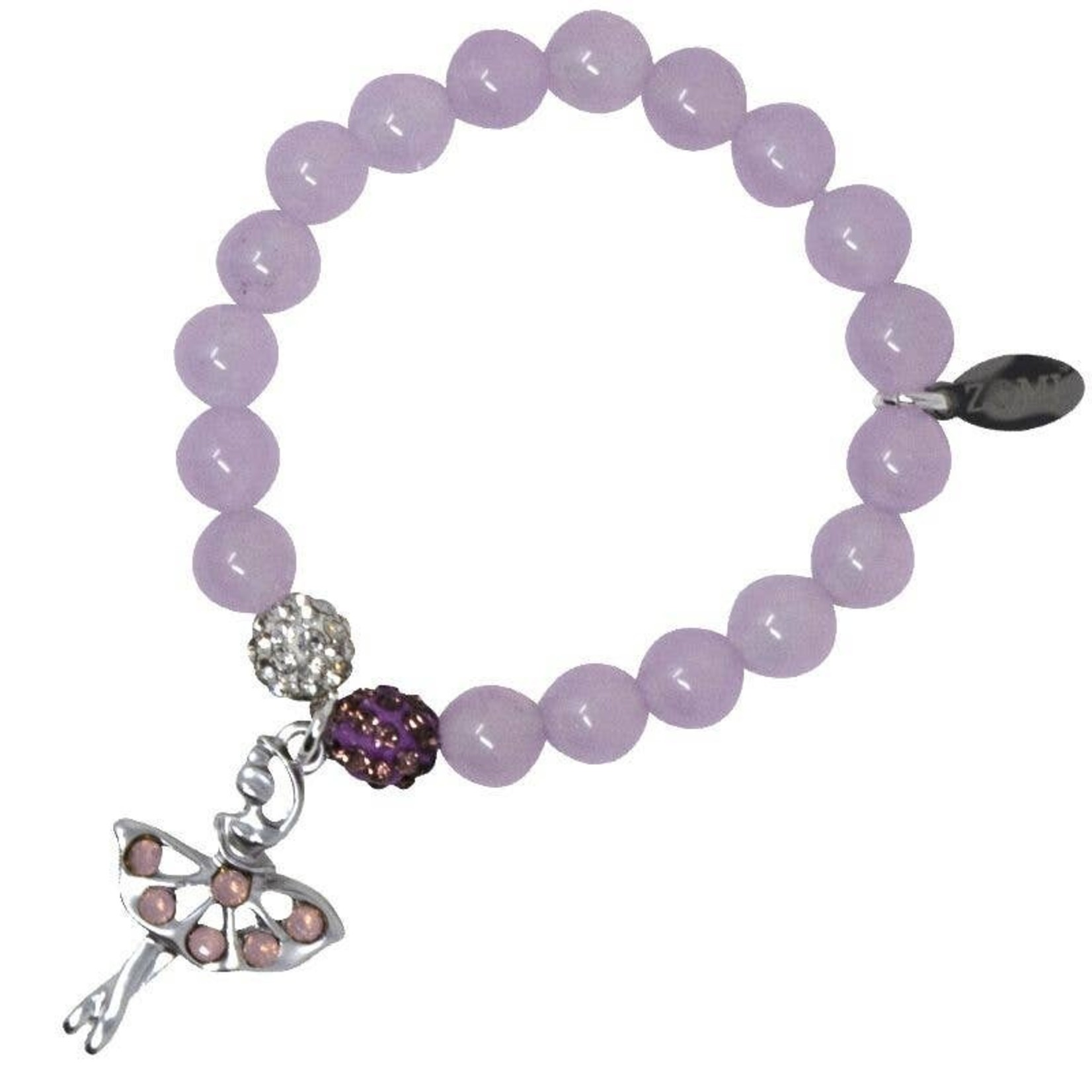 Zomi Gems Dancing Ballerina Baby Purple Bead Bracelet