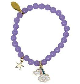 Zomi Gems Magic Rainbow Purple Bead Bracelet