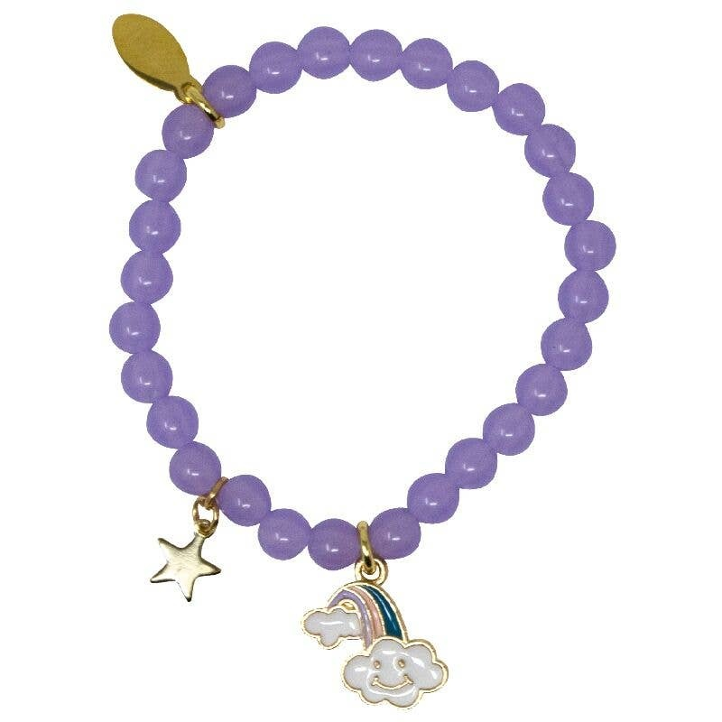 Zomi Gems Magic Rainbow Purple Bead Bracelet