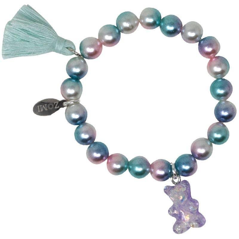 Zomi Gems Gummy Bear Pearl Bead Bracelet