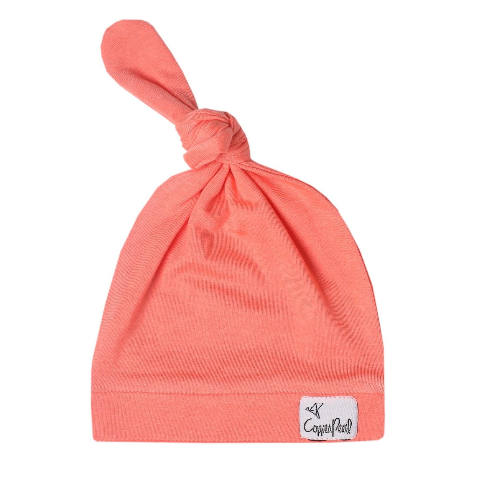 Copper Pearl Newborn Top Knot Hat, Stella