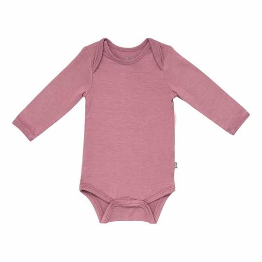 Kyte Baby Long Sleeve Bodysuit in Mulberry