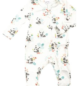 Angel Dear Ruffle Zipper Footie, Pandas