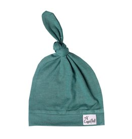 Copper Pearl Newborn Top Knot Hat, Journey