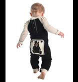 Lazy One Baby Bear Essentials Infant Flapjack - Black/Cream