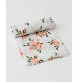 Little Unicorn Cotton Muslin Swaddle - Watercolor Rose