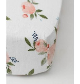 Little Unicorn Cotton Muslin Crib Sheet - Watercolor Rose