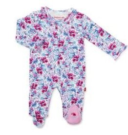 Magnetic Me Darlington Floral Organic Cotton Magnetic Footie Preemie