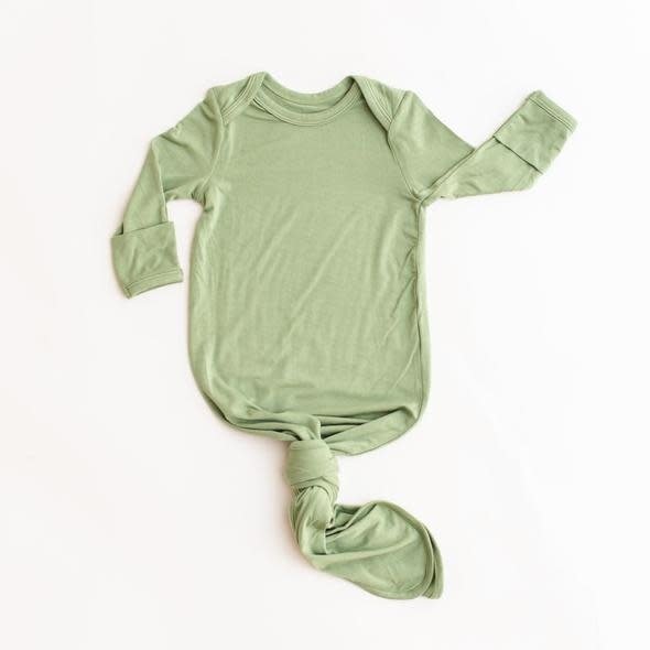 Little Sleepies Knotted Gown Sage Green