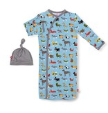 Magnetic Me In-dog-Nito Modal Magnetic Sack Gown Set NB-3M