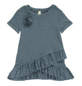 Vignette Polly Double Ruffle Top Teal 3T
