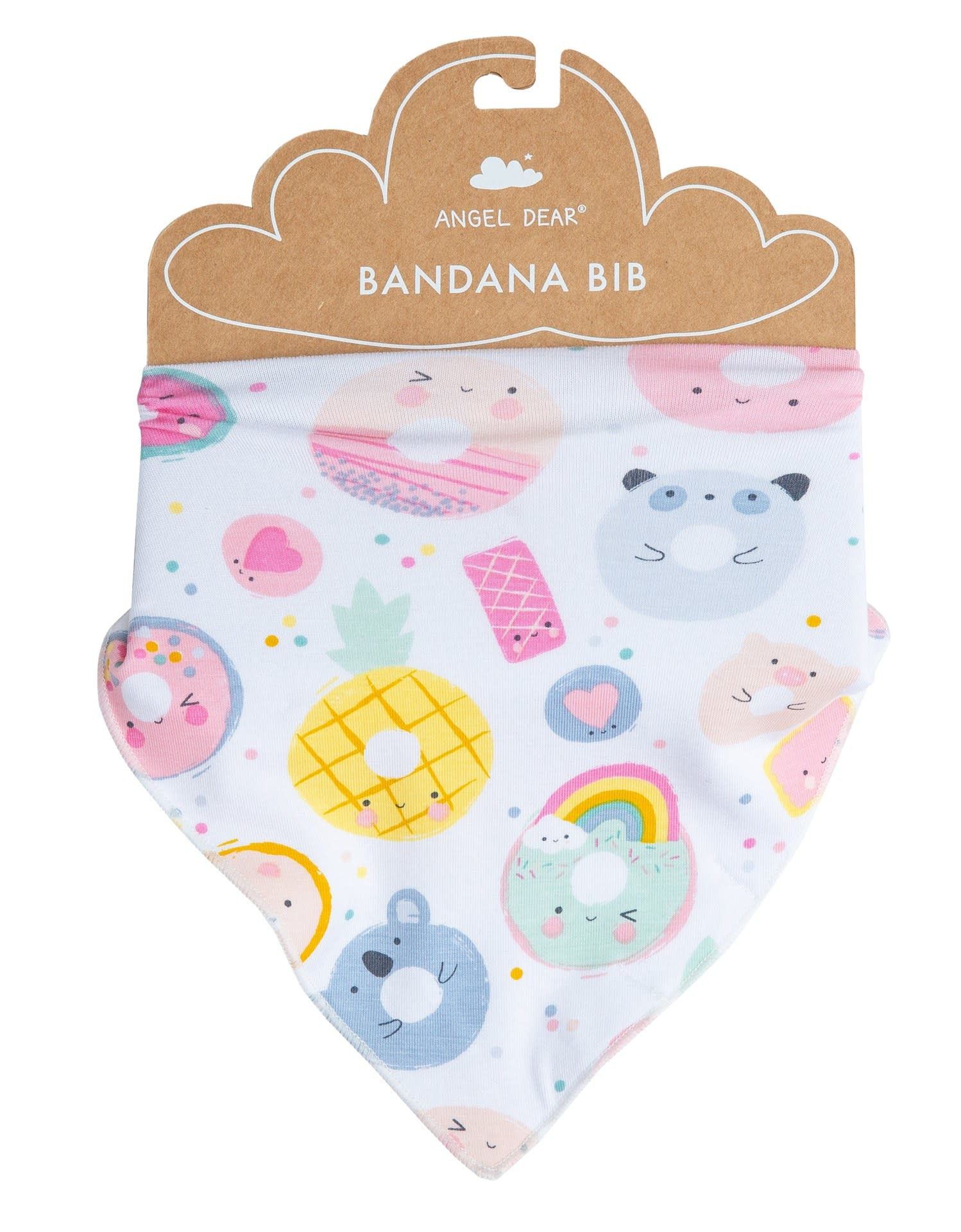 Angel Dear Bandana Bib, Donut Smiles