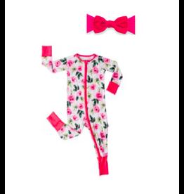 Little Sleepies Convertable/Romer Sleeper Roses + Velvet Knot Rouge Set 18-24M