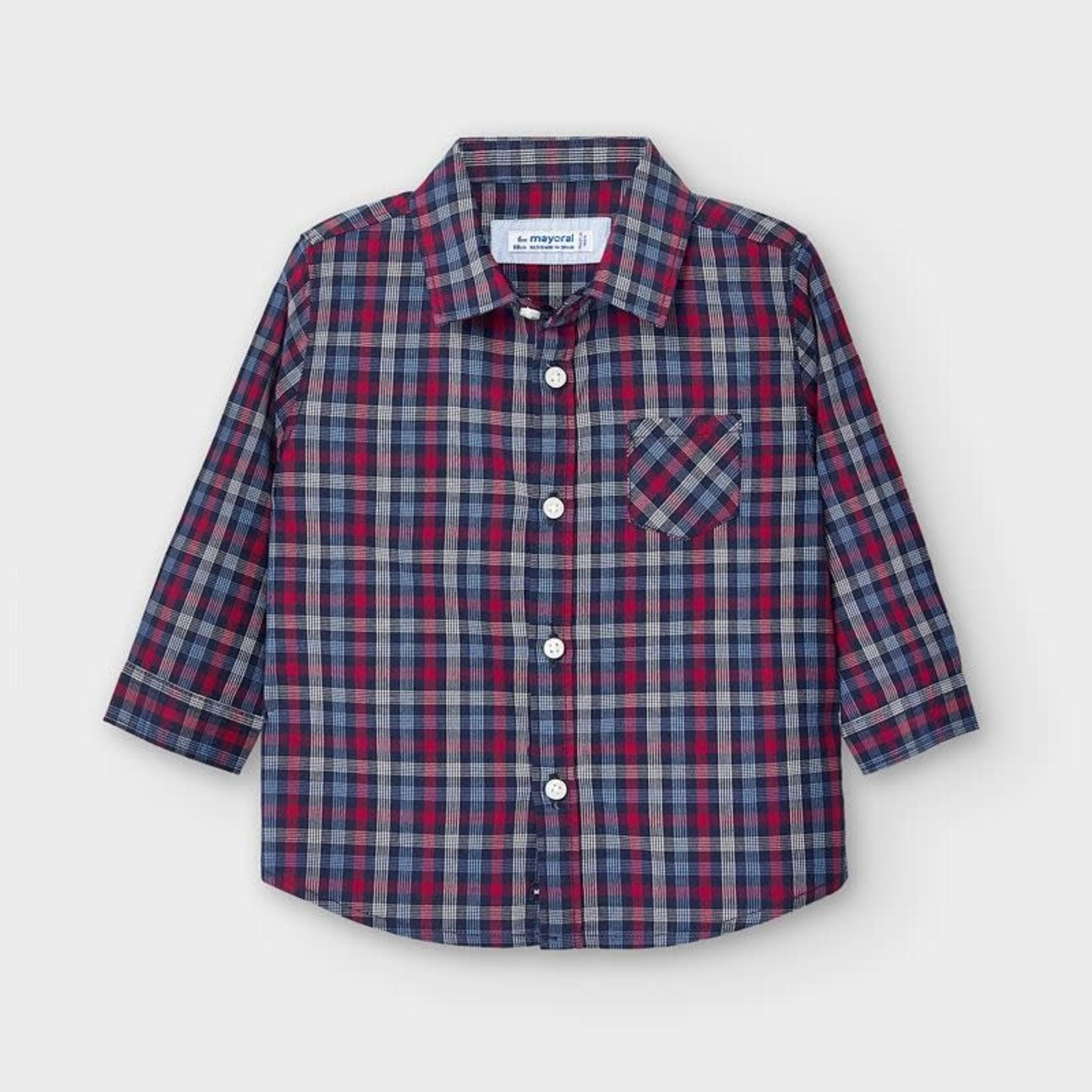 Mayoral Baby Boy  Long Sleeve Plaid  Shirt