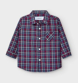 Mayoral Baby Boy  Long Sleeve Plaid  Shirt