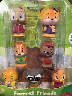 Fat Brain Timber Tots Forrest Friends - Set of 7
