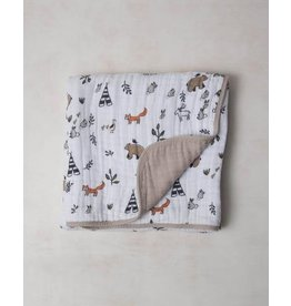 Little Unicorn Cotton Muslin Quilt - Forest Friends