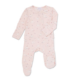 Angel Dear Ruffle Zipper Footie, Baby Bunnies Pink