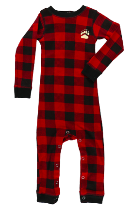 Lazy One Bear Cheeks Infant Flapjack - Red Plaid
