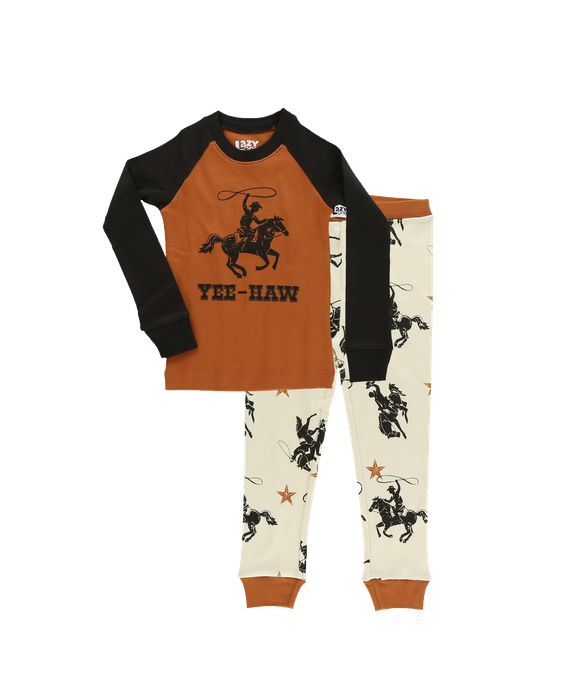 Lazy One Kids 2pc PJ Set - Yee Haw