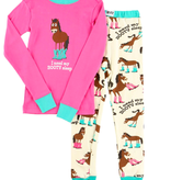 Lazy One Kids 2pc PJ Set - Booty Sleep