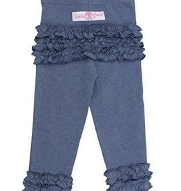 RuffleButts Ruffle Leggings Faux Denim