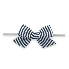 Baby Bling Bows Big Cotton Bow : Black Stripe